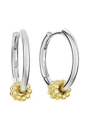 Gold Plated Beaded Hoop Earring
