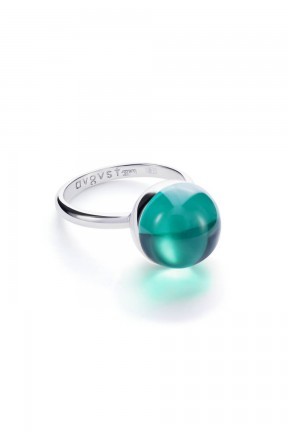 Medium Green Lollipop Ring