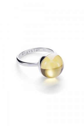 Medium Yellow Lollipop Ring