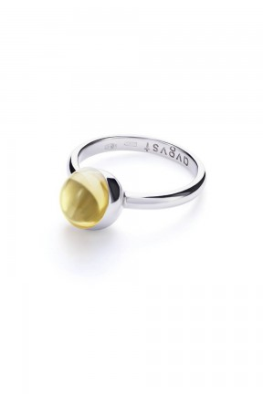 Small Yellow Lollipop Ring