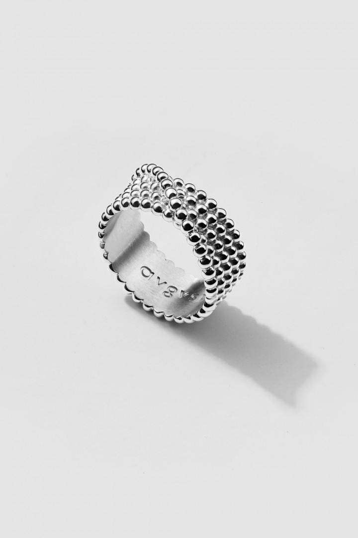 Wound-On Beads Ring
