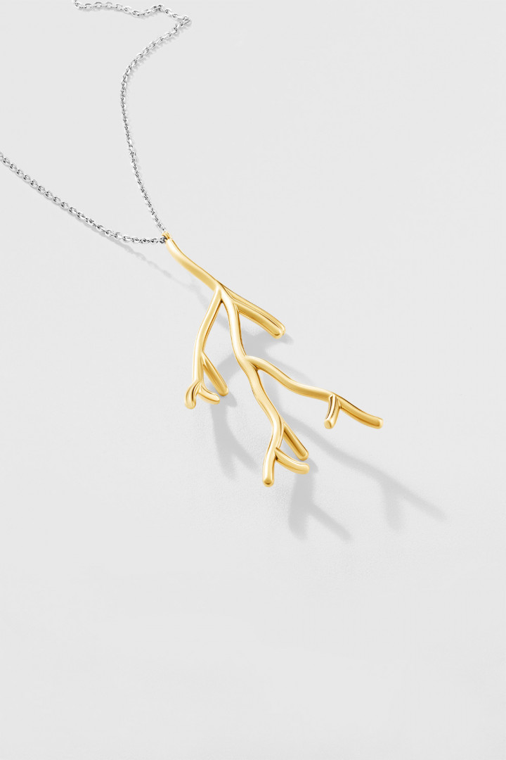 Koral Golden Dendrite Pendant Necklace