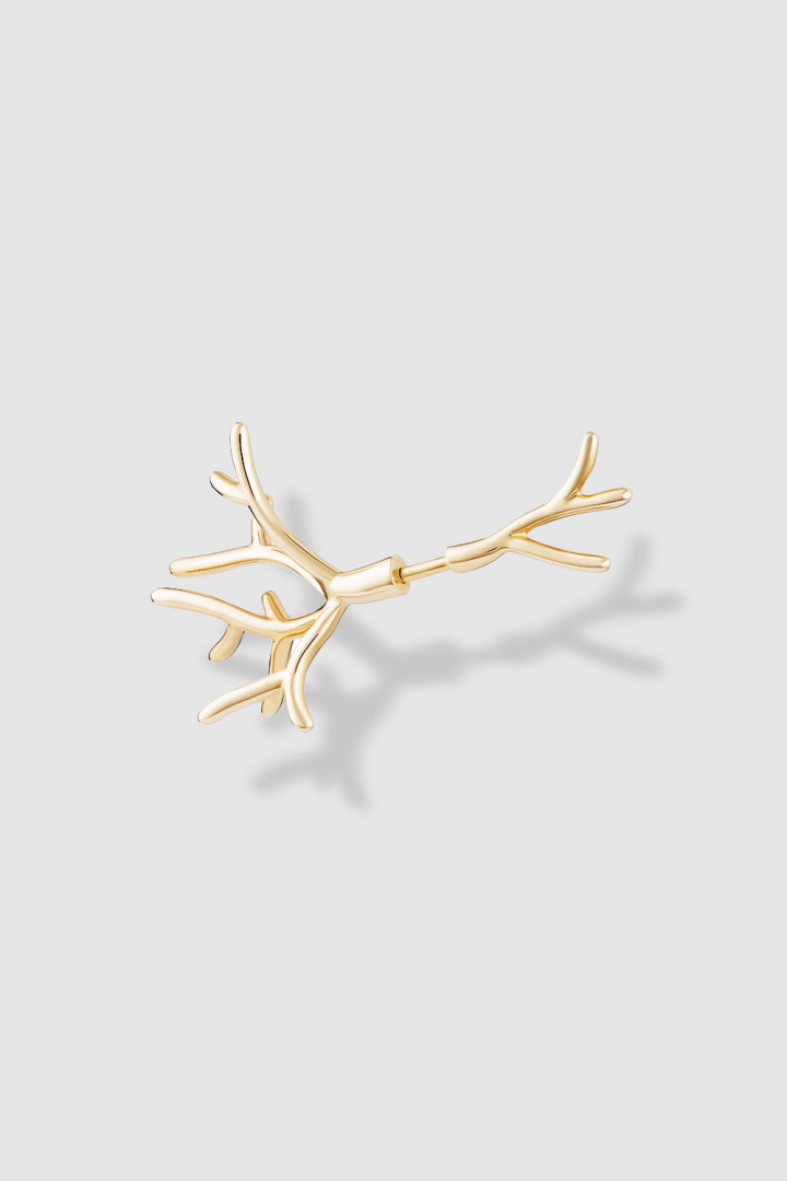Koral Bush Small Gold Single Earring