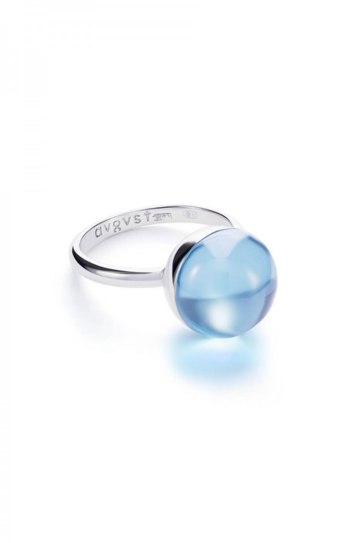 Medium Light Blue Lollipop Ring title=