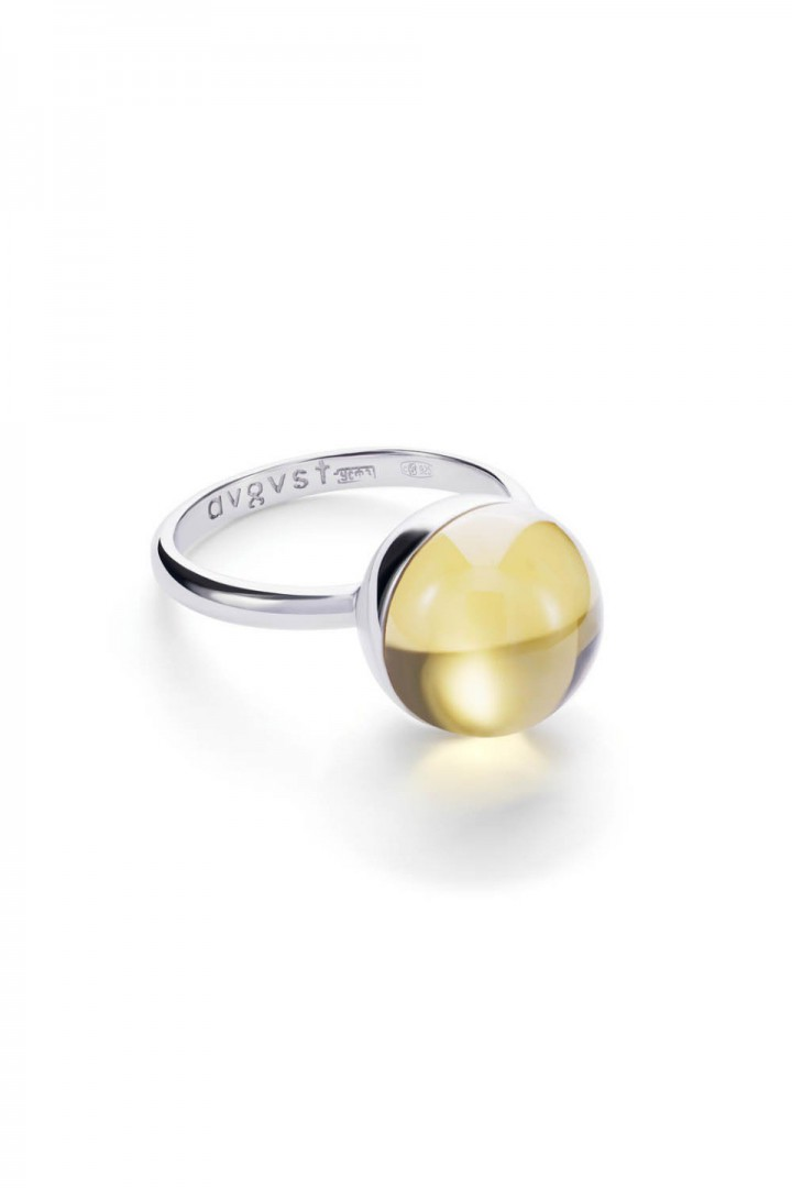 Medium Yellow Lollipop Ring title=