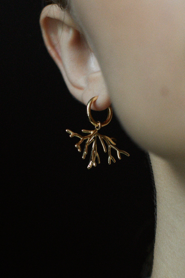 Koral Gold Bush Earrings