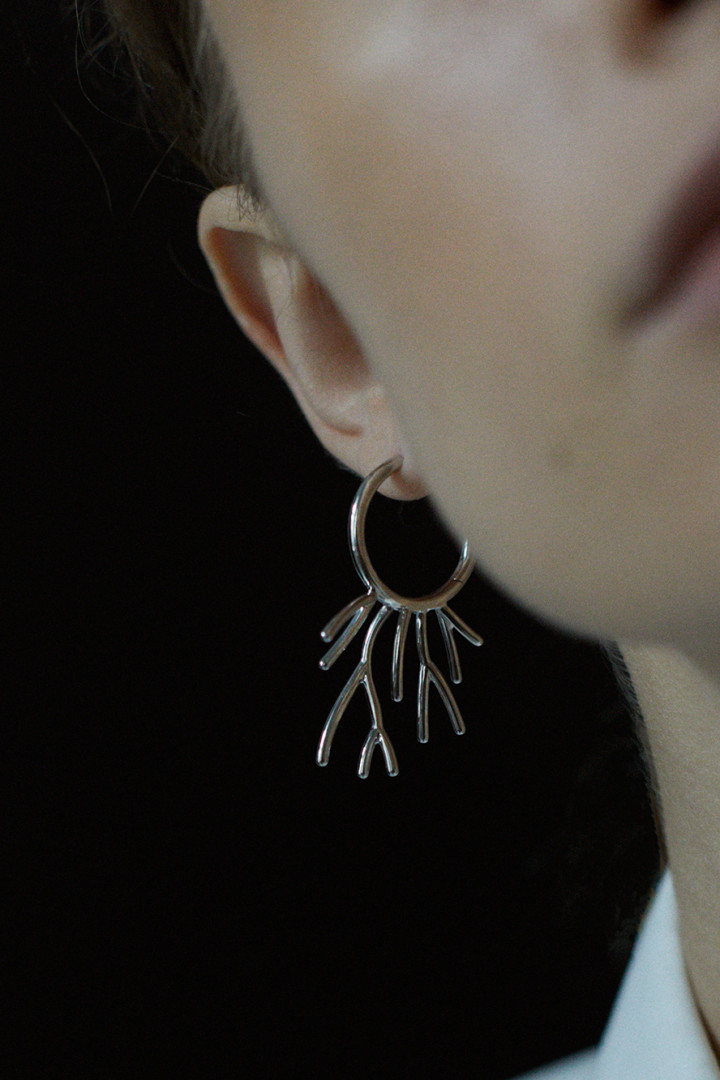 Koral Sprouted Hoop Earrings