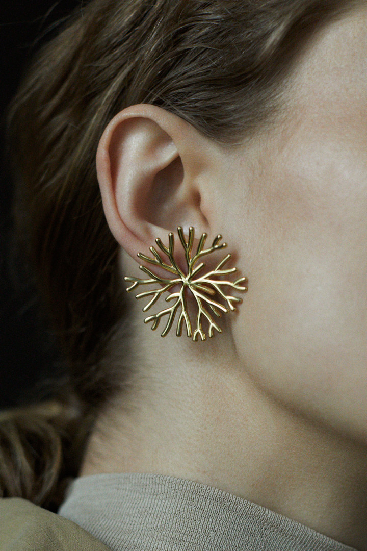 Koral Gold Plated 360 Single Earring