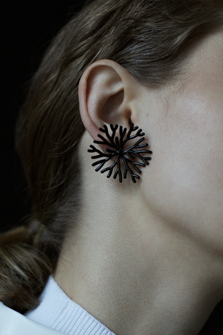 Koral Black 360 Single Earring