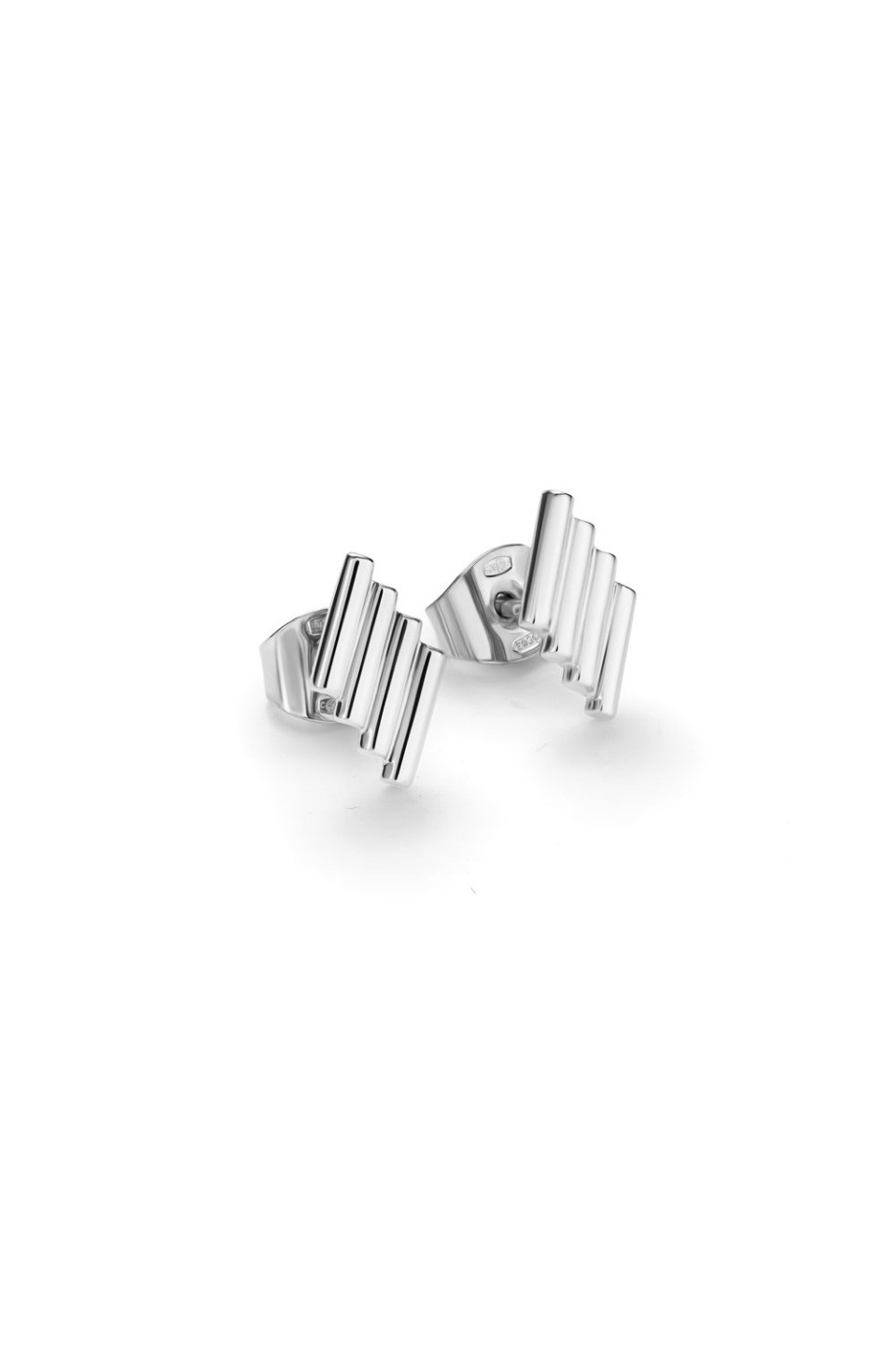Bugle Bead Stud Earrings