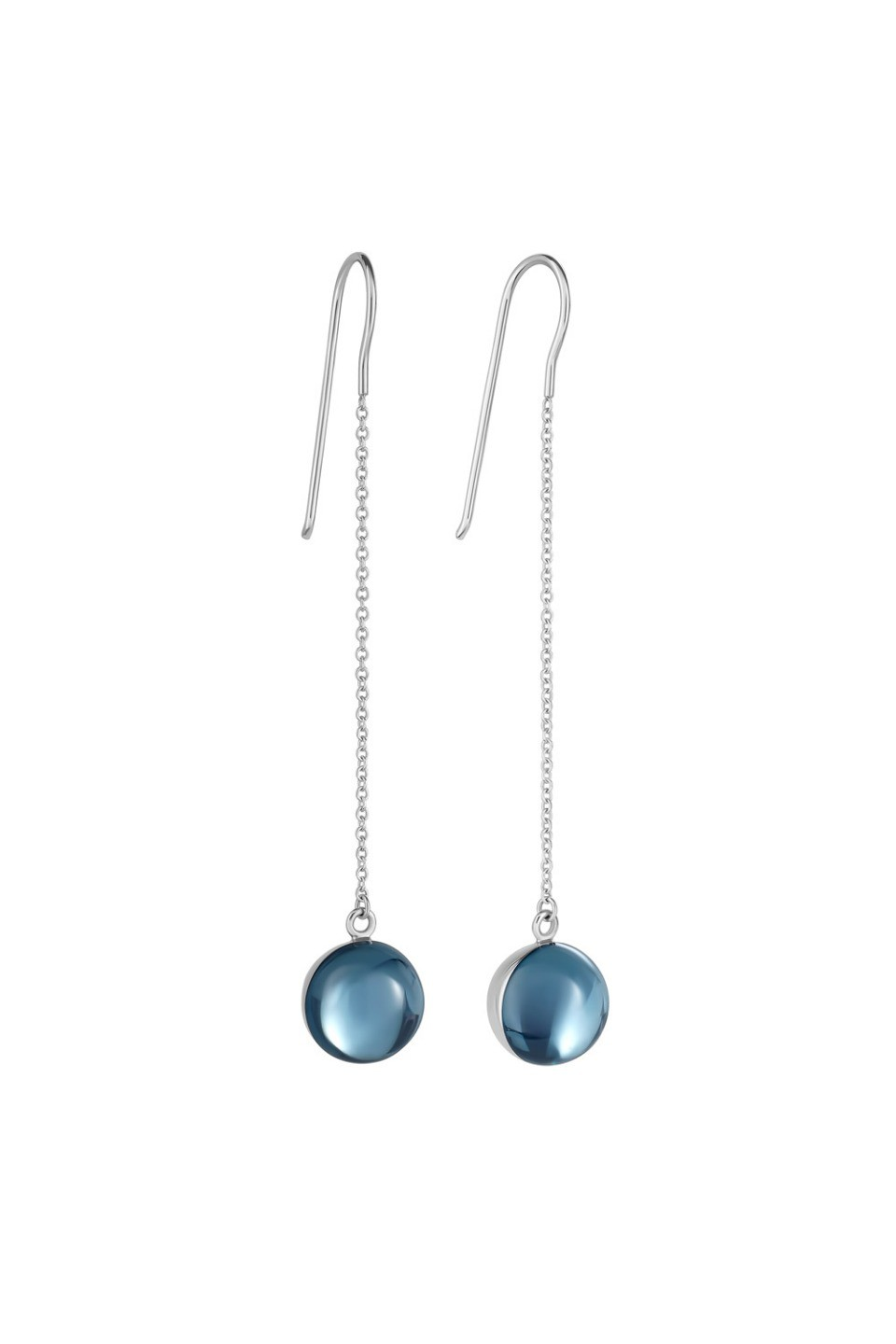Large Light Blue Lollipop Earrings