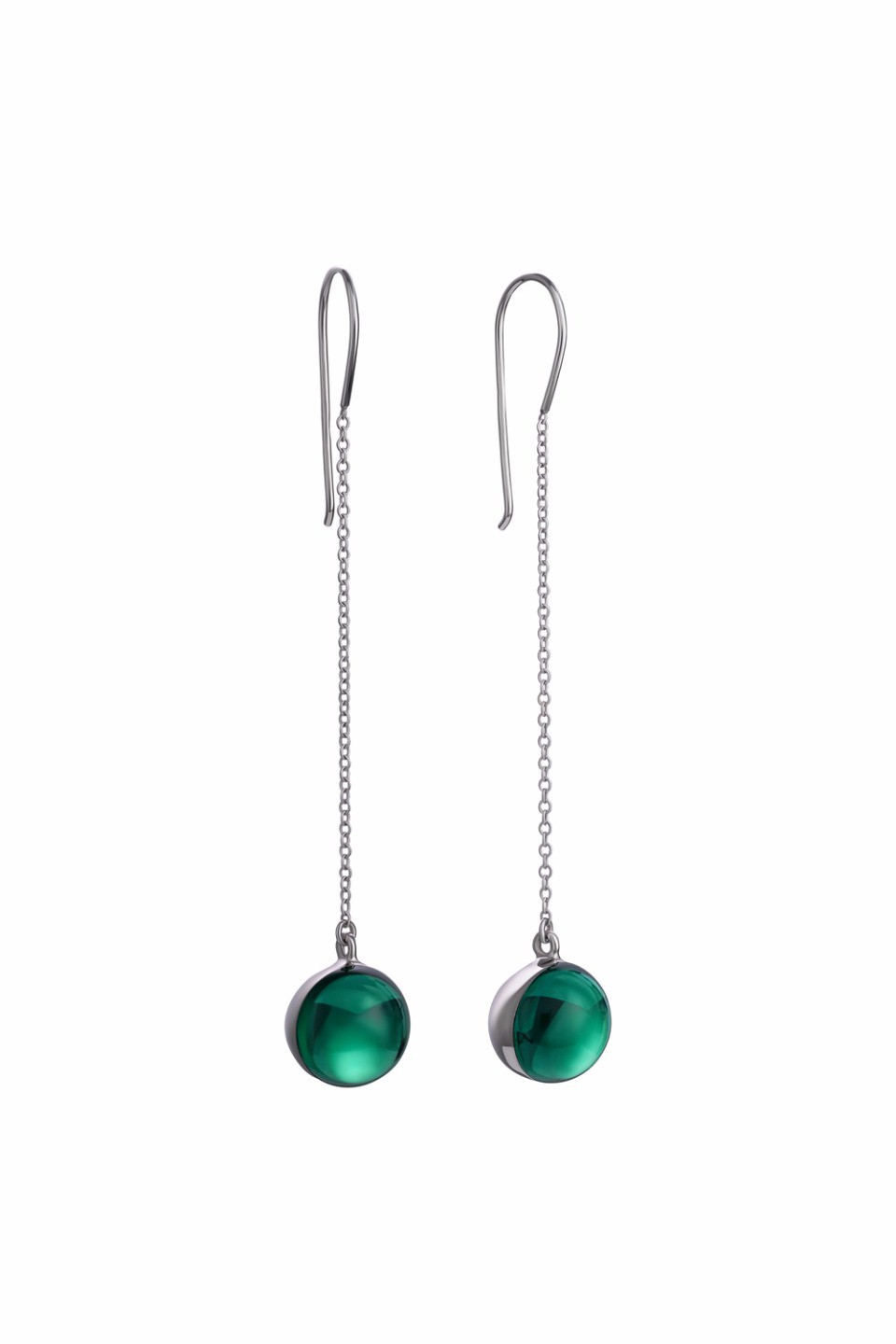 Large Green Lollipop Earrings