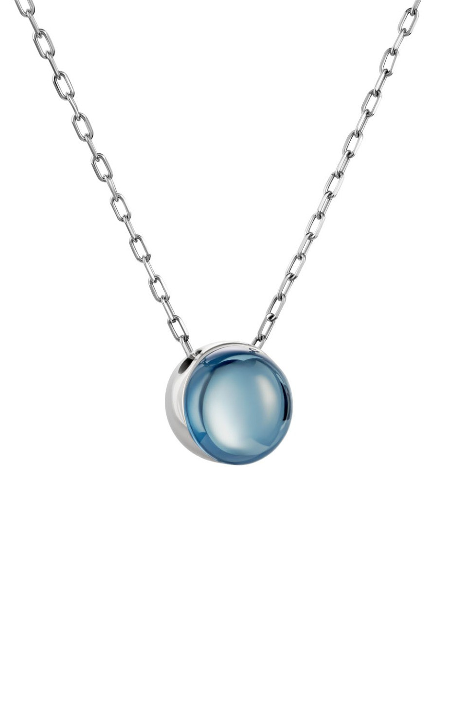 Small Light Blue Lollipop Pendant Necklace