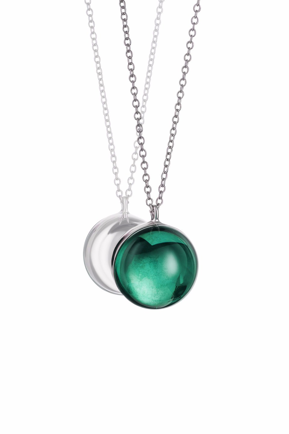 Large Green Lollipop Pendant Necklace