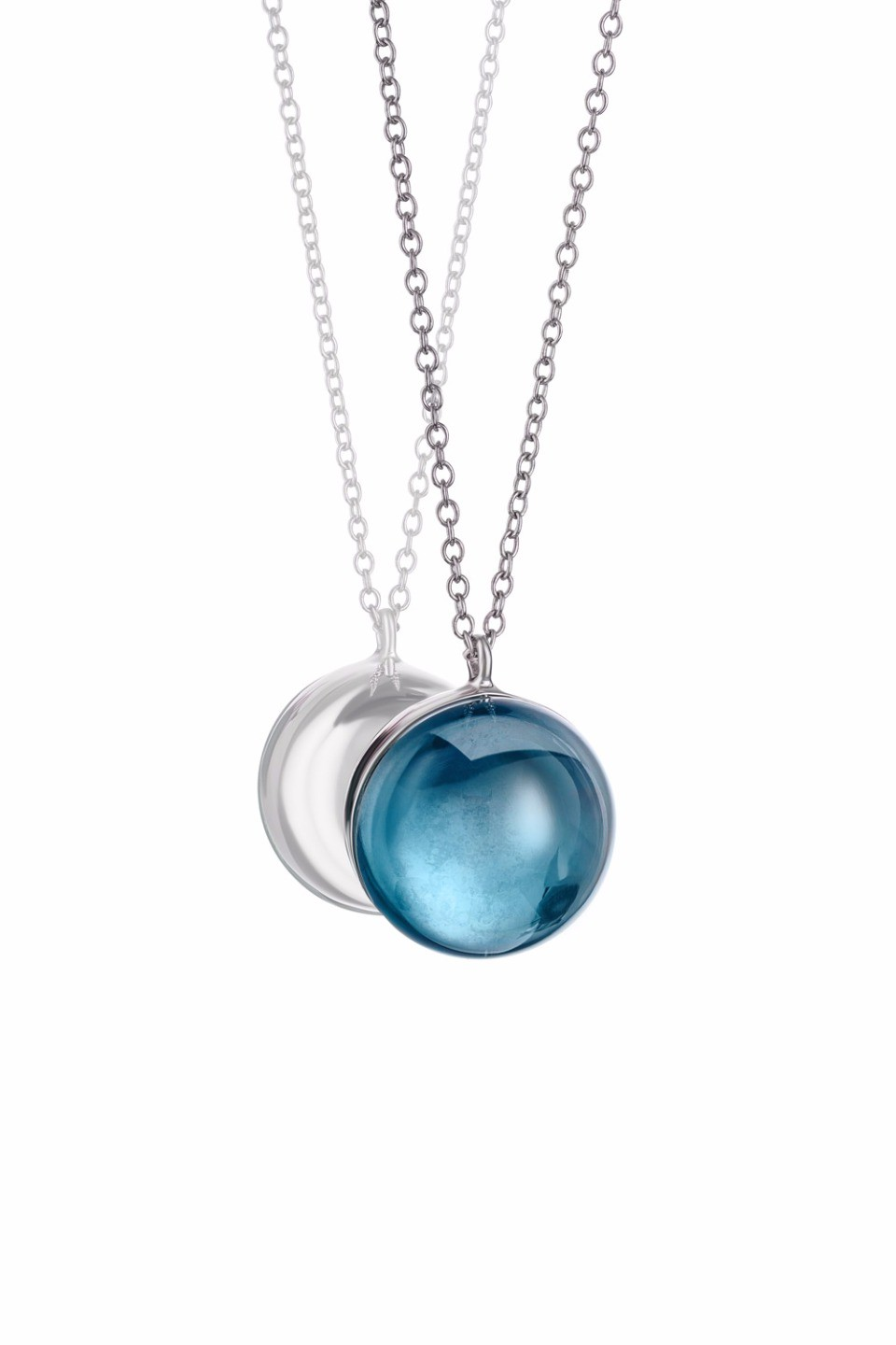 Large Light Blue Lollipop Pendant Necklace