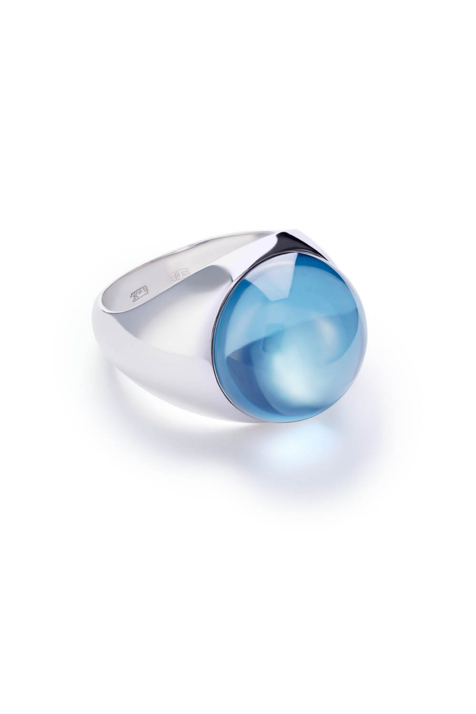 Large Light Blue Lollipop Ring