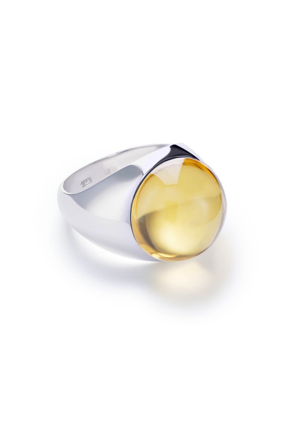 Large Yellow Lollipop Ring