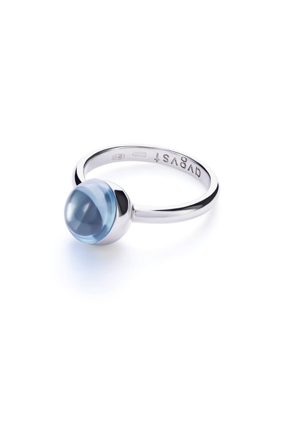 Small Light Blue Lollipop Ring